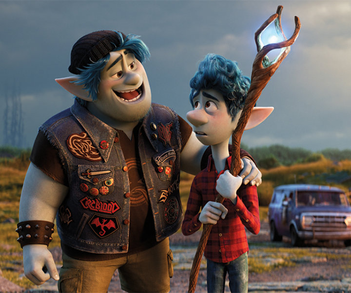 """EPIC QUEST -- In Disney and Pixar's """"Onward,"""" brothers Ian and Barley embark on an epic quest in search of a rare Phoenix Gem in an effort to fully conjure their late dad for one magical day. Featuring the voices of Tom Holland and Chris Pratt as Ian and Barley, """"Onward"""" opens in U.S. theaters on March 6, 2020. © 2020 Disney/Pixar. All Rights Reserved."""